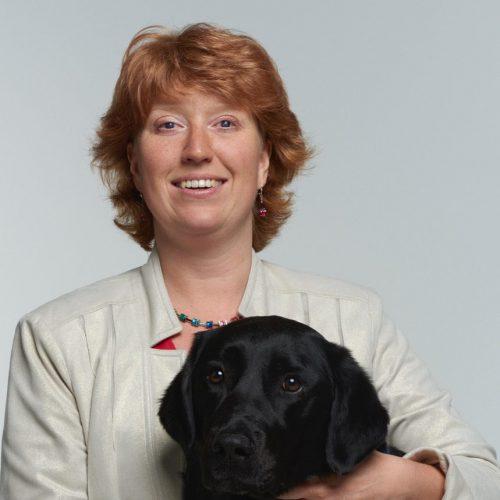 Martine Baadenhuijsen met haar hond